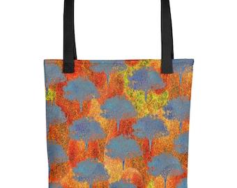 Tote bag fall tree pattern