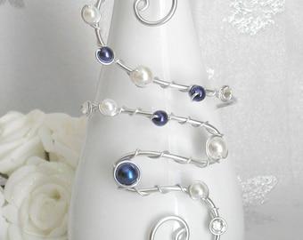 Wedding night and sawrovski rhinestone blue butterfly bracelet