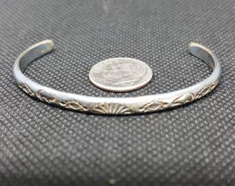 Vintage Sterling Silver Child's American Indian Bracelet