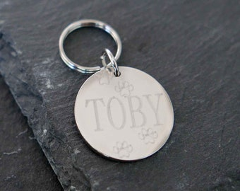 Pet ID Tag - Engraved Pet Tag - Personalized Pet Tag - Collar Tag - Personalized Dog Tag - Custom Dog Tag - Pet Accessories - Dog ID Tag
