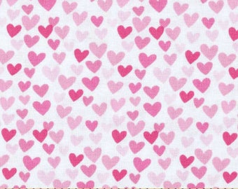 Pink Hearts fabric by Timeless Treasures Fabric-yardage #C3355-PINK