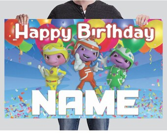 BANNER - Floogals - Custom Birthday Banner - Party Banner