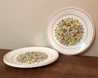 "Four Corelle Indian Summer 10"" Dinner Plates"