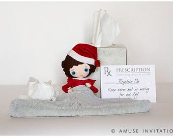 Elf Sick, Reason to not move the elf, Christmas Elf Accessories, Santa's Elf Prop, Elf Printable, Christmas Elf Ideas, Easy Elf Ideas