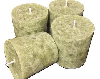 Organic Palm Wax Votive Set-Caribbean Teakwood-Vegan Gift Sets-Votive Sets- Gift Ideas- Scented Candles-Sconses Decor- Scents for Men