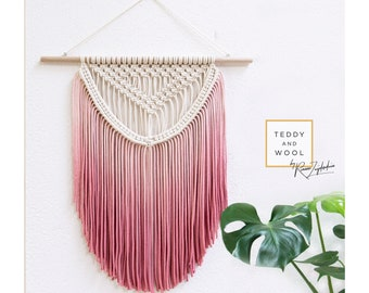 "Macrame Wall Hanging - Boho Nursery - Macrame Curtains - Macrame Patterns - Wallhanging - Modern Macrame - Home Decor - ""ALEXA"""