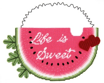 PATTERN: Life Is Sweet Wall Hanging in Plastic Canvas