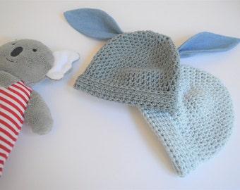 Denim Bunny Beanie with denim ears