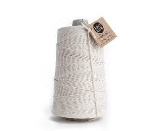 Jumbo Natural Cotton Twine / 750 Yards