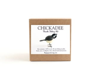 DIY Kit - Chickadee Needle Felting Kit - Needle Felted Animal Kit