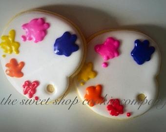 Paint Palette Cookies 2 dozen