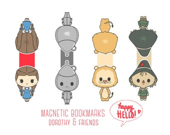Magnetic Bookmarks • Dorothy & Friends