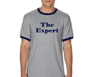 The Expert T-Shirt - Barron Trump Ringer Shirt