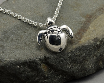 Turtle Necklace Sterling Silver Sea Turtle Necklace gift for women animal gift for mom beach Hawaii Jewelry