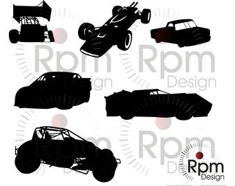 Racing SVG_Cricut_Silhouette_Cut File_Race Car SVG_Racecar_Sprint Car svg_DXF FILE_CNC_Laser_Cuttable_Digital File, Download