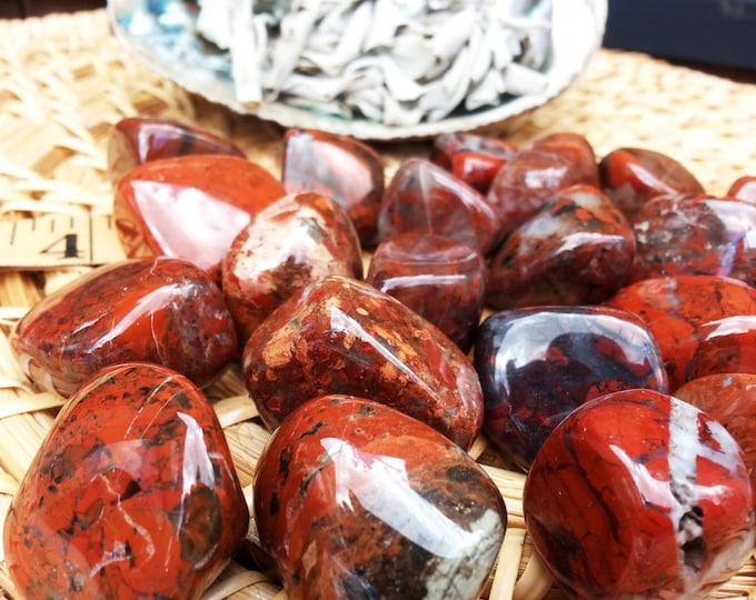 Brecciated Jasper ~ 1 large Reiki infused tumbled stone