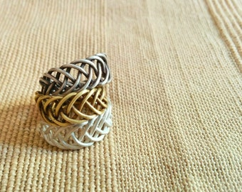 Ring silver braid. Silver Braid ring