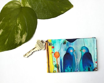 Student ID Holder Wallet, Card Holder Keychain, Teacher Student Gift, Colorful Keychain, Minimalist Card Sleeve, Slim Credit Card Holder