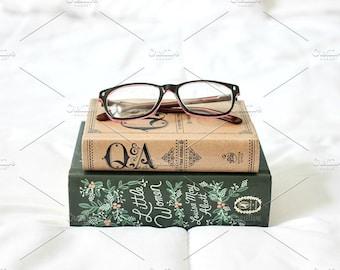 Styled Stock Photo   Books & Glasses   Blog stock photo, stock image, stock photography, blog photography