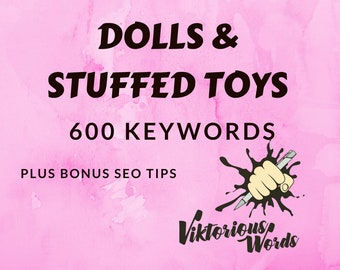 SEO Keywords for Toys Dolls Stuffed Toys Tags Popular Keyword How to Sell SEO Help Title Search Results Instagram Hashtag Best Seller etsy13