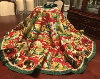 The Home on the Range Christmas Tree Skirt - 67 inches