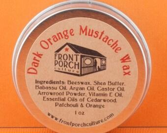 Dark Orange Mustache Wax - 1 oz