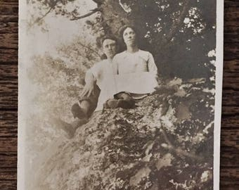 Original Vintage Photograph The Tree Lovers