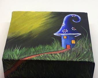 A Magic Place - original mini acrylic painting
