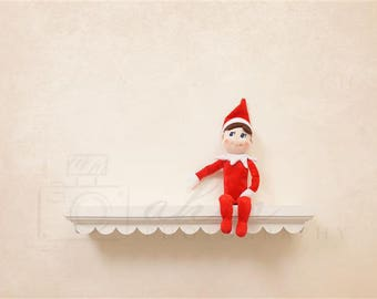 DIGITAL Newborn Backdrop Christmas Shelf Elf. One of a kind prop!