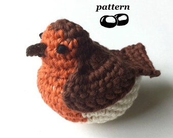Robin Crochet Pattern / Crochet Bird Pattern / Crochet Christmas Decoration / Christmas Crochet Pattern