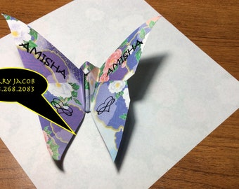 3D Origami Butterfly Wedding Favors/Biz Cards
