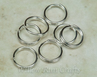 Silver Color 7mm Split Rings , 100-500 Rings (07-22-445)