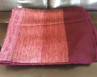 Wool Throw Blanket Alpaca from Ecuador, Wool Blanket, Alpaca Blanket, queen-size