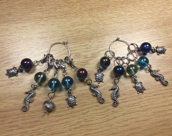 Crochet Stitch Markers, Knit Stitch Markers, Removable Stitch markers, Progress Keepers, work in progress markers, beaded stitch markers