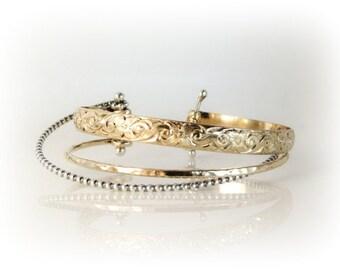 Cuff Bracelet, Wrap Bracelet, Silver and Gold Bracelet, Multi Strand Bracelet, Custom Made Bracelet, Adjustable Bracelet, Made to Order