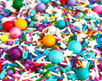 RAINBOW CAKE sprinkles - 100 grams. Cake sprinkles. Cake sprinkles Australia. Sprinkles shop Aus. Sprinkles Australia. Sprinkle mix Australi