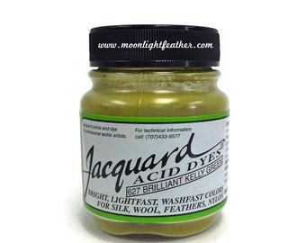 Feather, silk, wool, cashmere and Yarn Dyes - KELLY GREEN Jacquard Acid Dyes - 1/2 Oz : 3733