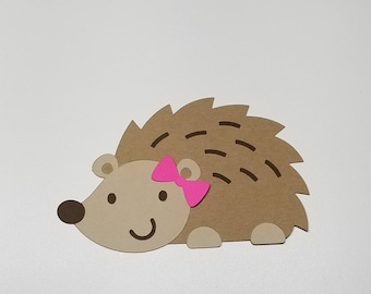 Hedgehog Cutout- With or Without Bow