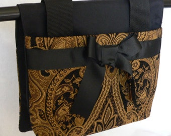 "Convertible ""Ruth"" Tapestry Walker Bag and Purse"