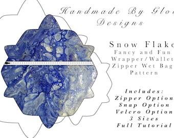 Snow SET wet bag /wrapper/ snack bag pattern