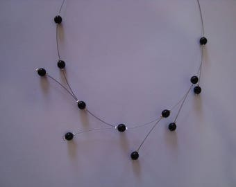 Necklace 5 black spikes