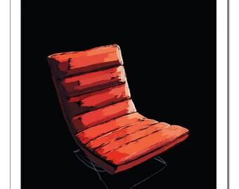 Italian Leather Chair Illustration-Pop Art Print