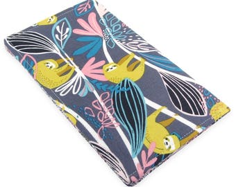 Sloth Checkbook Cover Wallet - Slim, Two Pocket Design Holds Cash And Checkbook