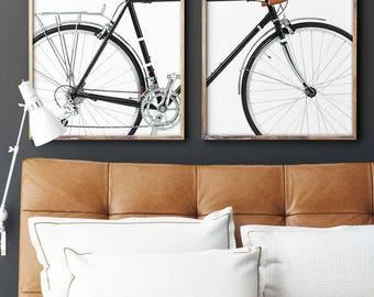 Bicycle Print, Scandinavian Art, Minimalist Bicycle Wall Print, Nordic Bicycle, Bike Print, Bicycle Wheels, Modern Bicycle Print, Wheels