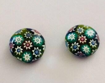 Millefiori Glass Earrings.
