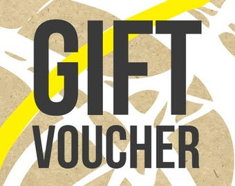 GIFT VOUCHER - Available for Birthdays, as a Standard Gift Voucher, or just because, gifts for her, gifts for him, knit kit voucher, yarn