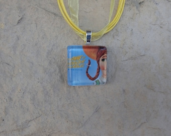 Broadway Musical Anne of Green Gables Glass Pendant and Ribbon Necklace