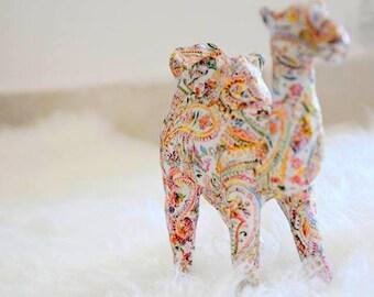 Home decor animal camel / Paper mache / House miniature / Decoupage miniature