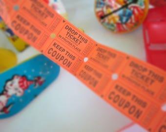 Raffle Tickets Lot of 50 Fairs Craft Projects Ephemera Handmade Invitations Keep This Coupon