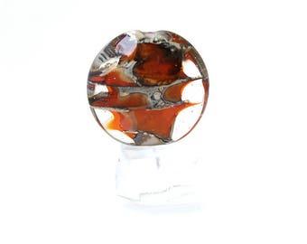 Orange lampwork focal bead Orange focal bead Orange lampwork glass bead Large glass bead orange Handmade Sea Rocks Anne Londez SRA OOAK